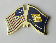 Delaware Us State Flag 1787 First State Combo Lapel Pin Badge 3/4 Inch