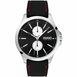 Mens HUGO Jump Rubber Strap Watch 1530001 genuine hugo boss watch