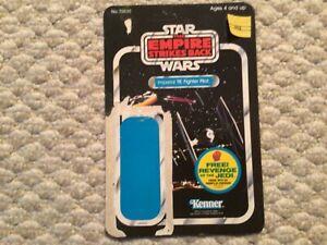 Star Wars Vintage figure Cardback ESB 48 back TIE Fighter Pilot