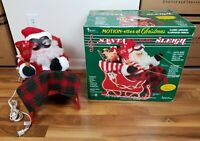 Vintage TELCO Motion-ettes Of Christmas Santa In His Sleigh Animated Musical NEW