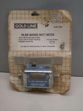 Gold Line 1085M Inline Marine Watt Meter 0-50 Watts