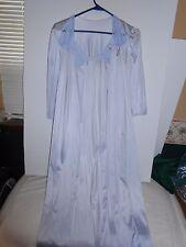 Vintage Vanity Fair 2 Pc Night gown Set Lightweight  Blue Sz Sm Floor length