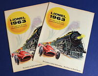 Lot 2 Lionel 1963 Catalogs 027 / Super O/ HO/ Standard Trains & HO Motor Racing