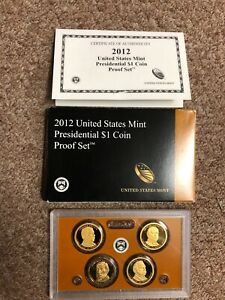 2012 United States Mint Presidential $1.00 Coin Proof Set + 4 Coin Set