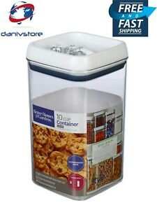 Better Homes & Gardens 10 Cup Flip-Tite Storage Clear Airtight Square Container