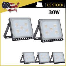 5 x 30W LED Flood Light Outdoor Ultra thin Spotlight Landscape Garden Warm White