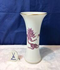 Meissen Ming Drache Lila Vase 332710/50272 Dragone Vaso 2nd Choice NEW