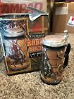 """Limited Edition 1996 Rodeo Winchester """"Calf Roping"""" Lidded Beer Stein IN BOX"""
