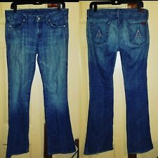 7 SEVEN FOR ALL MANKIND WOMENS DENIM JEANS BOOTCUT SIZE 30 REG W/ 32 INCH INSEAM