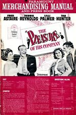 THE PLEASURE OF HIS COMPANY pressbook, Fred Astaire, Debbie Reynolds, Tab Hunter