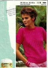 Patons Cotton KNITTING PATTERN, Women Short Sleeved TOP