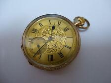 Wonderful 9ct Gold Cocktail Pocket Watch - Hallmarked - Hand-winding 7 jewels