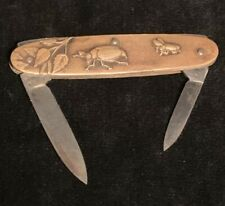 Aesthetic Movement Pocket Knife Japanese Style German Blades Insects Plants