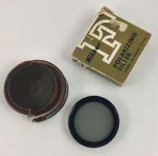 Vintage Nikon 52mm Screw Mount Polarizing Filter in Nikon Leather Case & Box
