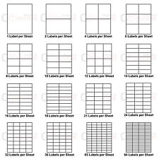Address Labels A4 Sheets White Sticky Self Adhesive Sticker Inkjet Laser Printer