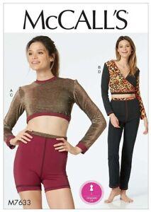 McCalls Sewing Pattern 7633 Top Shorts Trousers 4-12 Acro Gym Dancewear Ladies