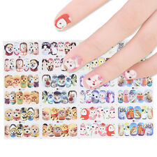 12patterns Owl Dog Water Decal Cute Animal Manicure Nail Art Transfer Stickers