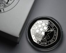 More details for 2tone ska silver commemorative in capsule & gift box. music is life. reggae walt