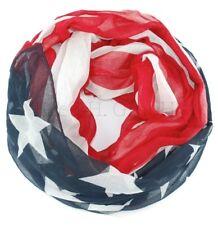 XXL Loopschal Schal Tuch Schlauchschal USA Flagge Sterne Streifen-Schal