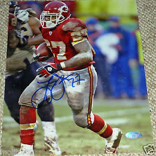 KC KANSAS CITY CHIEFS LARRY JOHNSON AUTOGRAPHED SIGNED 8x10 PHOTO STEINER HOLO