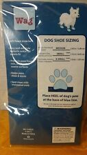Simply Wag Blue Bone Fleece Dog Booties, Elastic Ankle, Size S