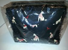 Women's 8in. Black With Red/White Poodles Purse. NEW IN PACKAGE!