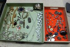 Re-purpose & Repair Broken Jewelry Lot Rhinestones Beads, Crystal Chains