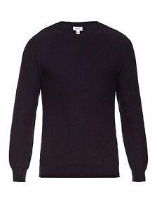 Brioni Jumper Knitwear 100% Luxury Cashmere Size 52/XL Handmade Italy £760 Navy