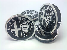 ALFA ROMEO Cache Moyeux Centres de Roue Alu Emblem 4p x 60mm/55mm  *NEUF*