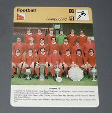 FICHE FOOTBALL 1976-1977 LIVERPOOL REDS ANFIELD HEIGHWAY KEEGAN CLEMENCE HUGHES