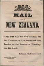 Post Office Notice - New Zealand 1872 Post Office Notice announcing the despatc