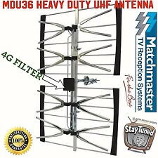 tv antenna digital outdoor 4G matchmaster uhf channels hdtv hd  02MM MDU 36 coax