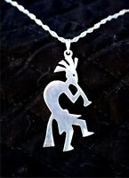 One of a kind KOKOPELLI sterling Silver necklace,