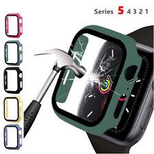 Для Apple Watch Series 5 4 3 2 1 жесткий бампер, корпусный чехол, закаленное стекло 40mm/44mm