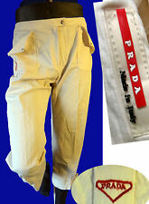 PRADA 42 long short board clam digger 31 capri palazzo pant white ivory cream