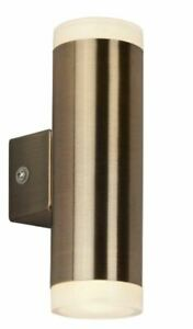 LED ANTIQUE BRASS UP DOWN WALL PORCH LIGHT IP44 CLEARANCE PRICE £20.00