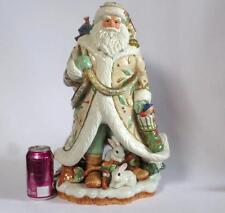 "Fitz & Floyd Winter Wonderland Santa Figurine 18 1/4"" tall"