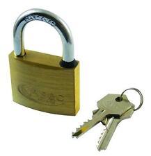 ASEC BB clé principale ouverte entraves 40mm Cadenas en laiton idéal pour hangars, camionnettes, bagages