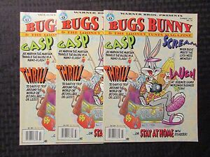 1993 BUGS BUNNY Looney Tunes Magazine #14 FVF 7.0 LOT of 3