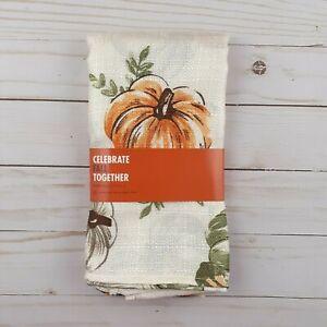 Fabric Dinner Napkins Fall Pumpkins 18x18 Set of 4