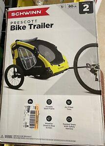 Schwinn Prescott Bicycle Trailer  Yellow  Seats 2