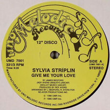 "Sylvia Striplin ‎– Give Me Your Love / You Can't Turn  Neuf / Mint US 12 "" Maxi"