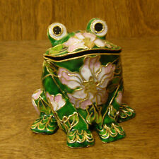 Victorian Treasures #A50-1 FROG, Green w/ pink, NEW from Retail Shop, MIB