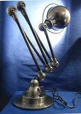 JIELDE LAMP FRENCH INDUSTRIAL 5 ARMS POLISHED WAXED PROTECTION GRAPHITE