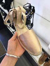 Brand New 100% Genuine Saint Laurent Women's Satin Ankle-Wrap Espadrilles UK: 6