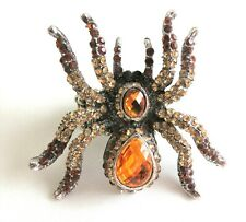 Adjustable Sizes Halloween Costume Glitzy Spider Ring Rhinestones