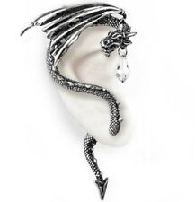 Crystal Dragon Fantasy Right Ear Wrap Wing Tail Alchemy Gothic Earring E330