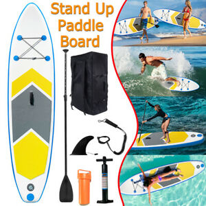 10ft Inflatable Stand Up Paddle Board SUP Surfboard Non-Slip Deck w/ Accessories