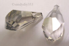 6x SWAROVSKI 6015 SILVER SHADE 13mm Polygon PENDANT CRYSTAL