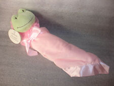 Hallmark Polyester Pink Blanket Frog Couverture For baby or little boy or girl